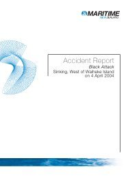 Accident Investigation Report Recreational Black Attack Waiheke ...