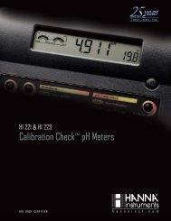 Calibration CheckTM pH Meters - Somatco