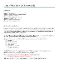 The Mobile Mile 26 User Guide - Beam Team Portal Links
