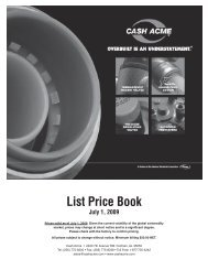 Download PDF Product Price List - Cash Acme
