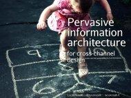 for cross-channel design - Architecture de l'information