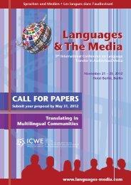23, 2012 Hotel Berlin, Berlin Languages & The Media