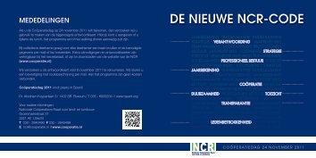 DE NIEUWE NCR-CODE - Nationale Coöperatieve Raad voor land