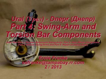 Swing-Arm and Torsion Bar Components - Good Karma Productions