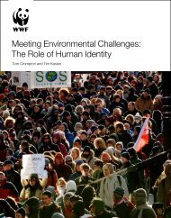 Meeting Environmental Challenges: The Role of Human ... - WWF UK
