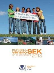 Folleto Cursos de verano SEK en el extranjero 2013 -descargar
