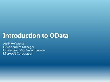 OData - TechNet Blogs