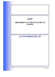 CCTP - Mairie de Caveirac