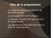 Présentation SCoT_Nevers par le SCOT et le CETE