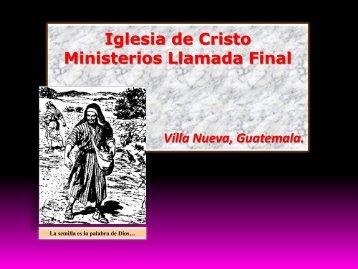 Las manifestaciones de Dios.pdf - IGLESIA DE CRISTO - Ministerios ...