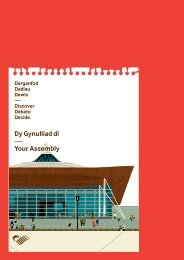 Dy Gynulliad di — Your Assembly - National Assembly for Wales