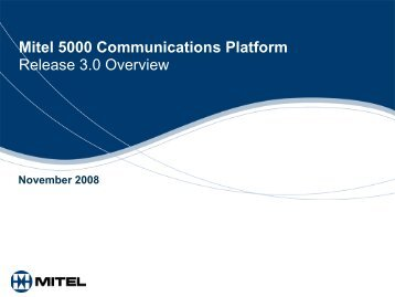 Mitel 5000 Communications Platform End-User ... - Ash Telecom
