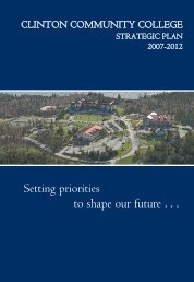 Setting priorities to shape our future . . . - Clinton Community College