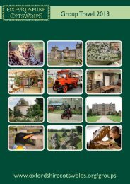 2013 Group Travel Guide - Oxfordshire Cotswolds
