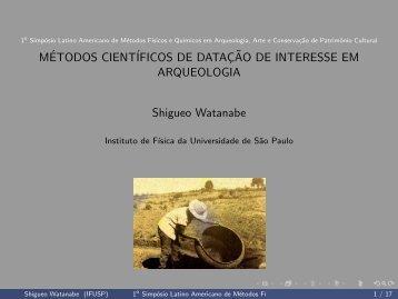 1º Simpósio Latino Americano de Métodos Físicos e Químicos em ...