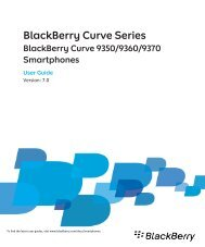 BlackBerry Curve Series - 7.0 - User Guide