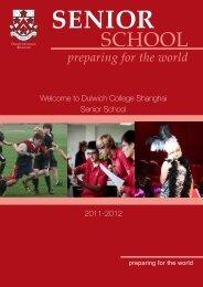 preparing for the world - Dulwich College Shanghai