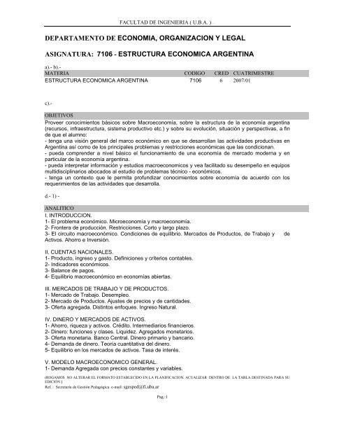 7106 Estructura Economica Argentina