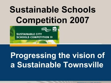 Progressing the vision of a Sustainable Townsville