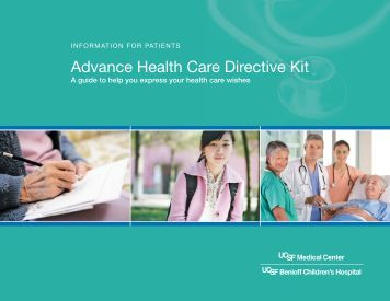 advance Health Care Directive Kit - UCSF Medical Center