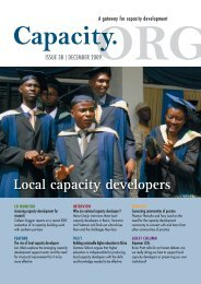 Local capacity developers (Capacity.org issue 38, December 2009)