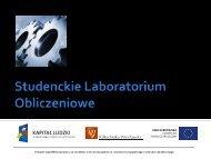 Studenckie laboratorium obliczeniowe