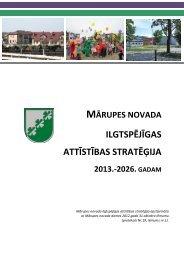 Mārupes novada ilgtspējīgas attīstības stratēģija 2013.-2026. gadam