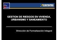 gestion de riesgos en vivienda, urbanismo y saneamiento