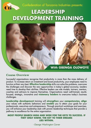 LEADERSHIP DEVELOPMENT TRAINING - Zoom Tanzania