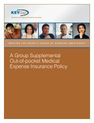 Deductible Buy-Back Plan - Key Association Health Solutions