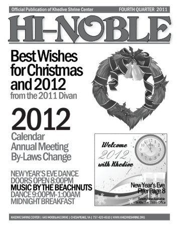 HI-NOBLE  Fourth Quarter 2011  - Khedive Shriners