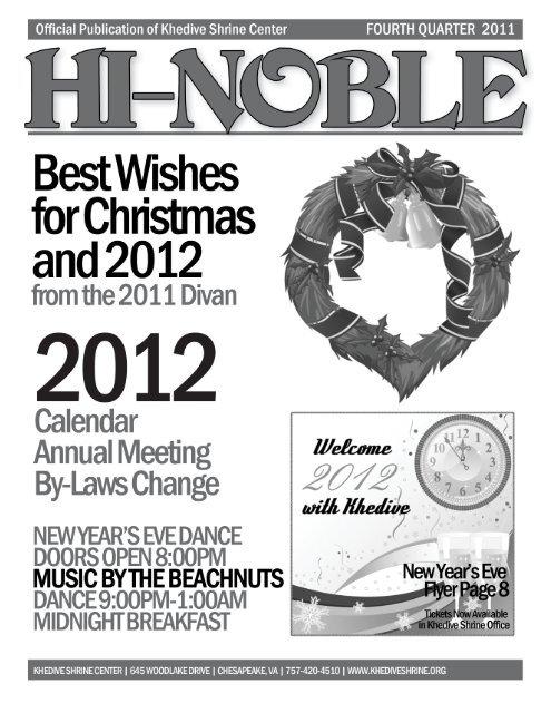 HI-NOBLE  Fourth Quarter 2011  - Khedive Shriners