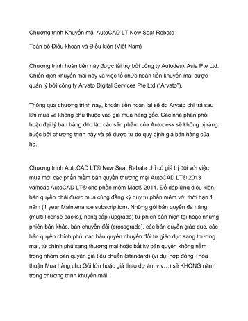 AutoCAD LT Rebate Promotion Toàn bộ Điều khoản và Điều kiện ...