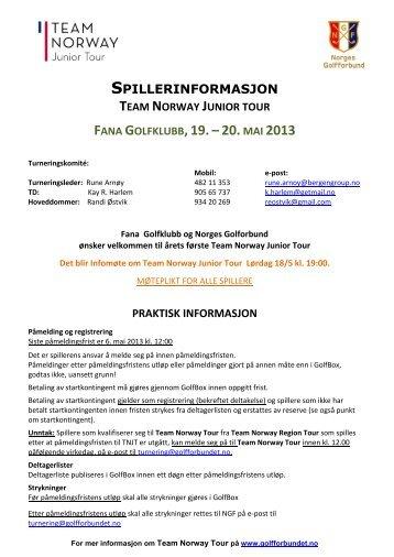 Invitasjon og praktisk informasjon - Fana Golfklubb