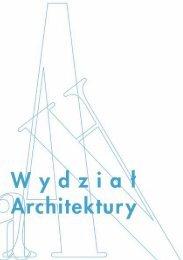 Inf_Architektury_2006 OK.qxp - Wyższa Szkoła Ekologii i Zarządzania
