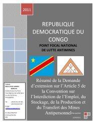 republique democratique du congo - AP Mine Ban Convention