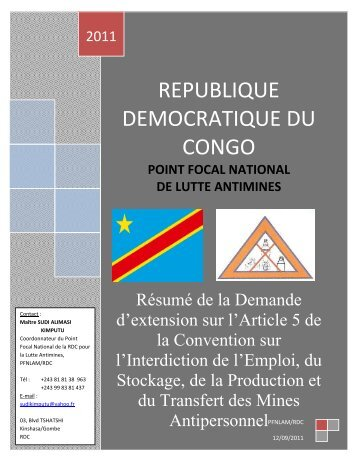republique democratique du congo - AP Mine Ban Convention