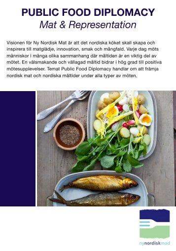 PUBLIC FOOD DIPLOMACY Mat & Representation - Ny Nordisk Mat
