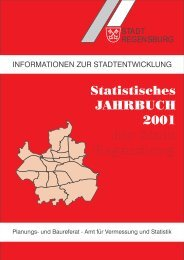 Statistisches JAHRBUCH 2001 der Stadt Regensburg - Statistik ...