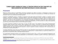 condiciones generales para la tercera negociación conjunta de ...