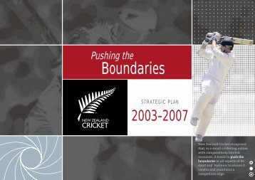 NZC Strategic Plan 2003 - 2007 - Pushing the Boundaries