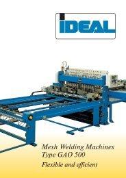Mesh Welding Machines Type GAO 500 - IDEAL-Werk C. + E ...