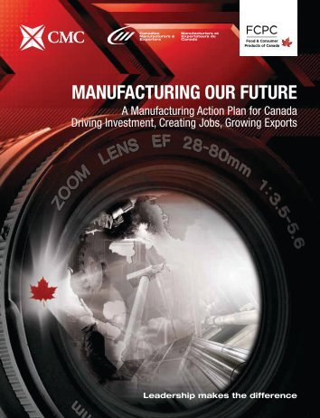 manufacturing our future - CTMA: The Canadian Tooling and ...