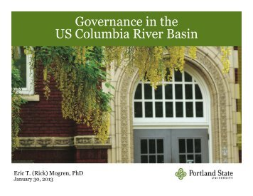 Governance in the US Columbia River Basin - United States Energy ...