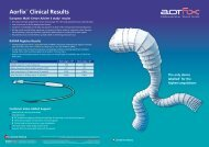 Aorfix™ Clinical Results - Lombard Medical