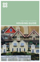 Student Housing Guide - Oregon College of Art and Craft