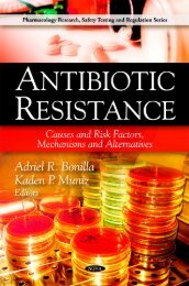 Antibiotic resistance : causes and risk factors, mechanisms