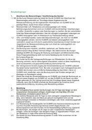 Reisebedingungen 1. Abschluss des Reisevertrages / Verpflichtung ...
