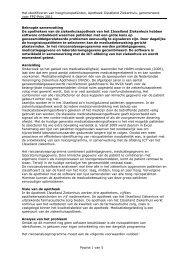 Projectbeschrijving Identificeren van risicopatienten - KNMP