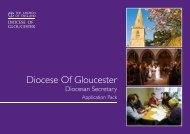 Information Pack / job description - Diocese of Gloucester